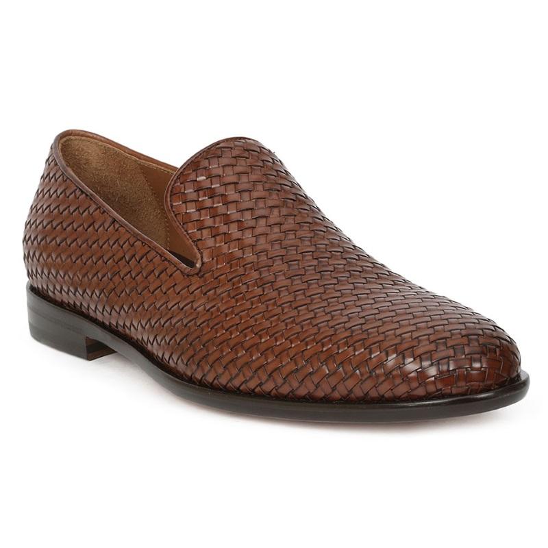 Bruno Magli Picasso Woven Loafers Cognac Image