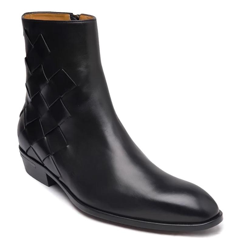 Bruno Magli Riccardo Cuban Heel Boots Black Image