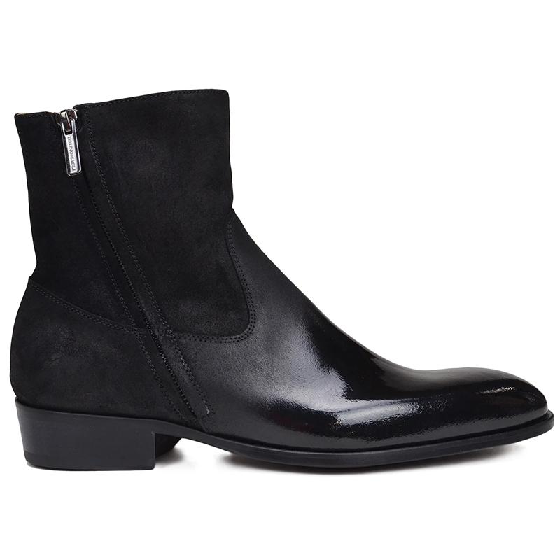 Bruno Magli Risoli Round Pointed Toe Boot Black Image