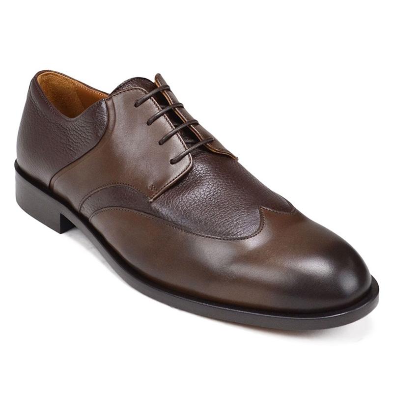 Bruno Magli Salvatore Wingtip Derby Shoes Dark Brown Image