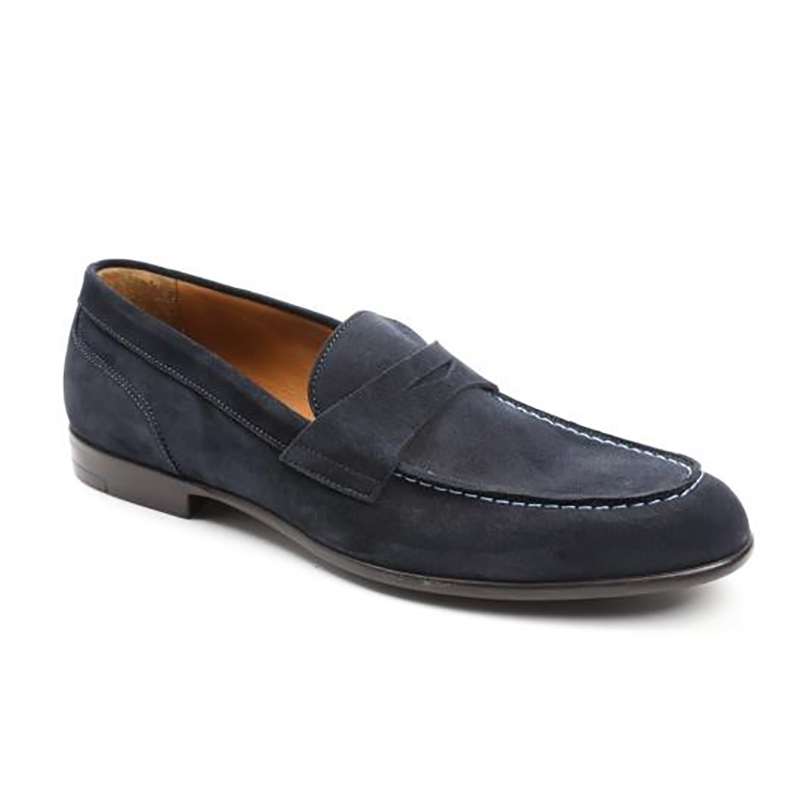 Bruno Magli Silas Penny Loafer Deep Navy Image