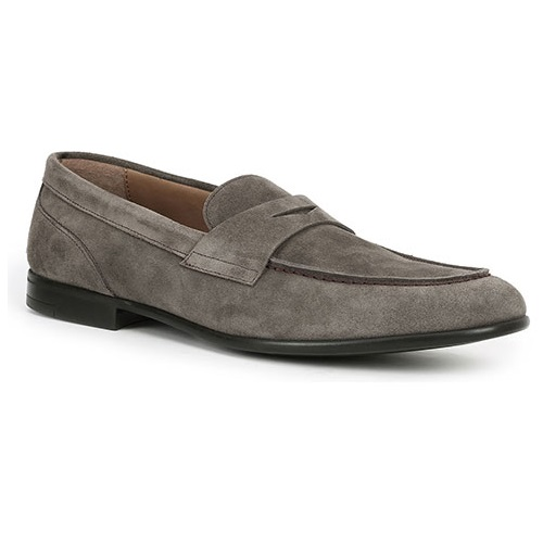 Bruno Magli Silas Suede Penny Loafers Taupe Image