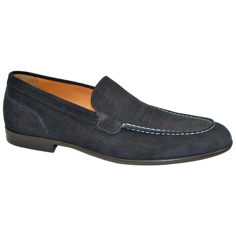 Bruno Magli Sino Plain Vamp Loafers Navy Image