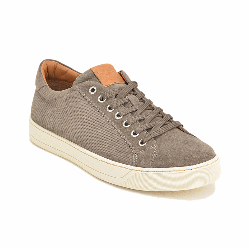 Bruno Magli Walter Suede Sneakers Taupe Image