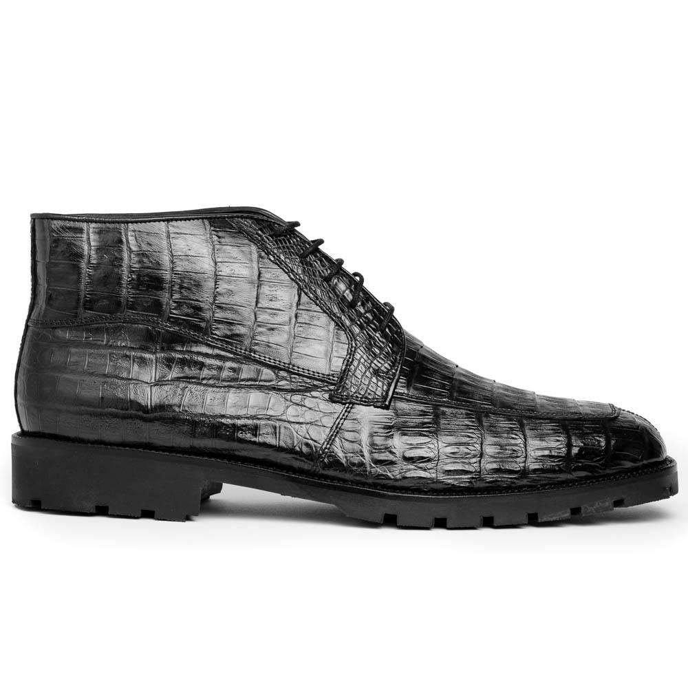 Los Altos Caiman Belly Boots Black Image