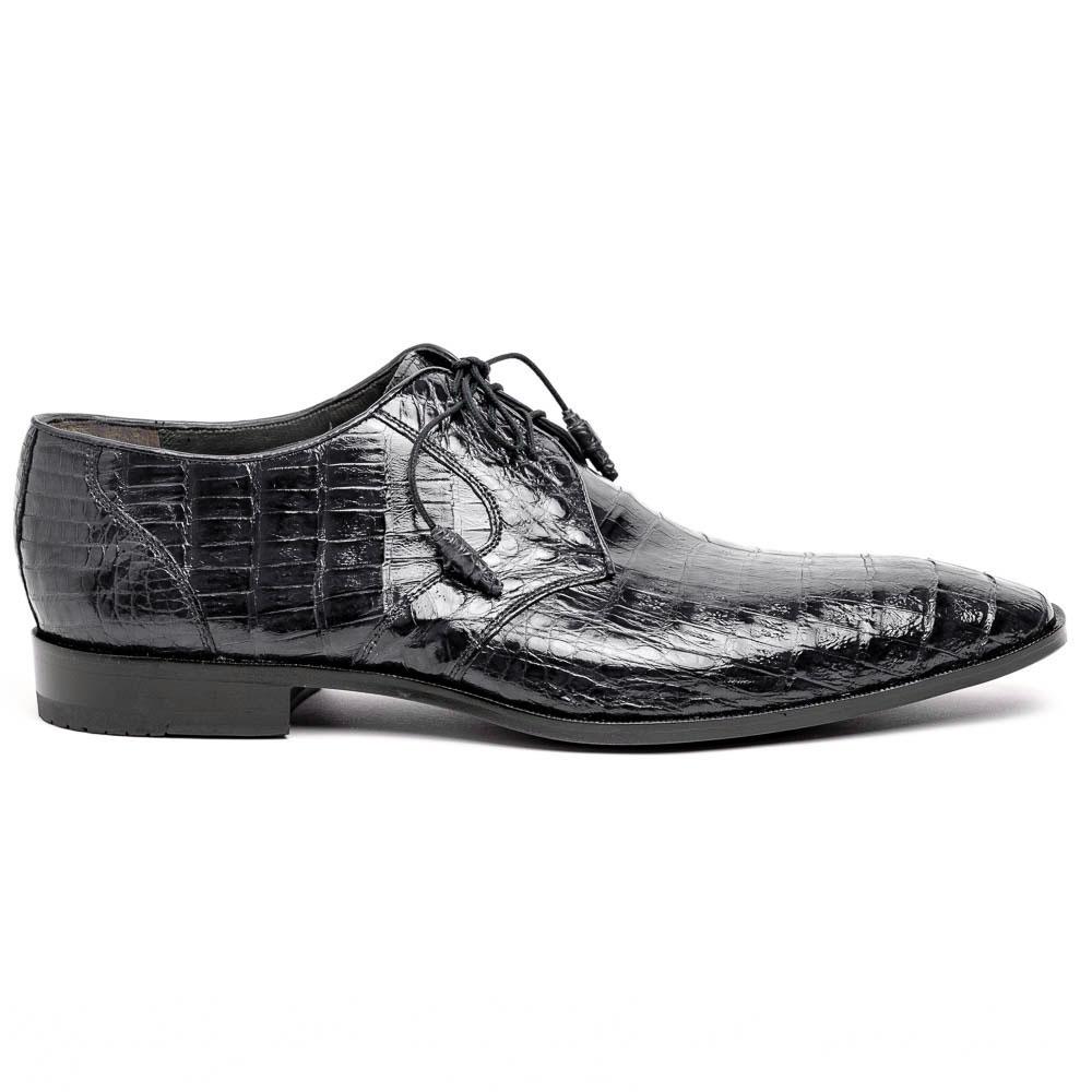 Los Altos Caiman Belly Derby Shoes Black Image