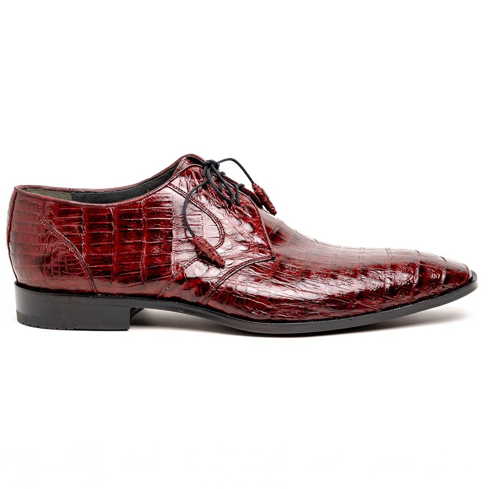 Los Altos Caiman Belly Derby Shoes Burgundy Image