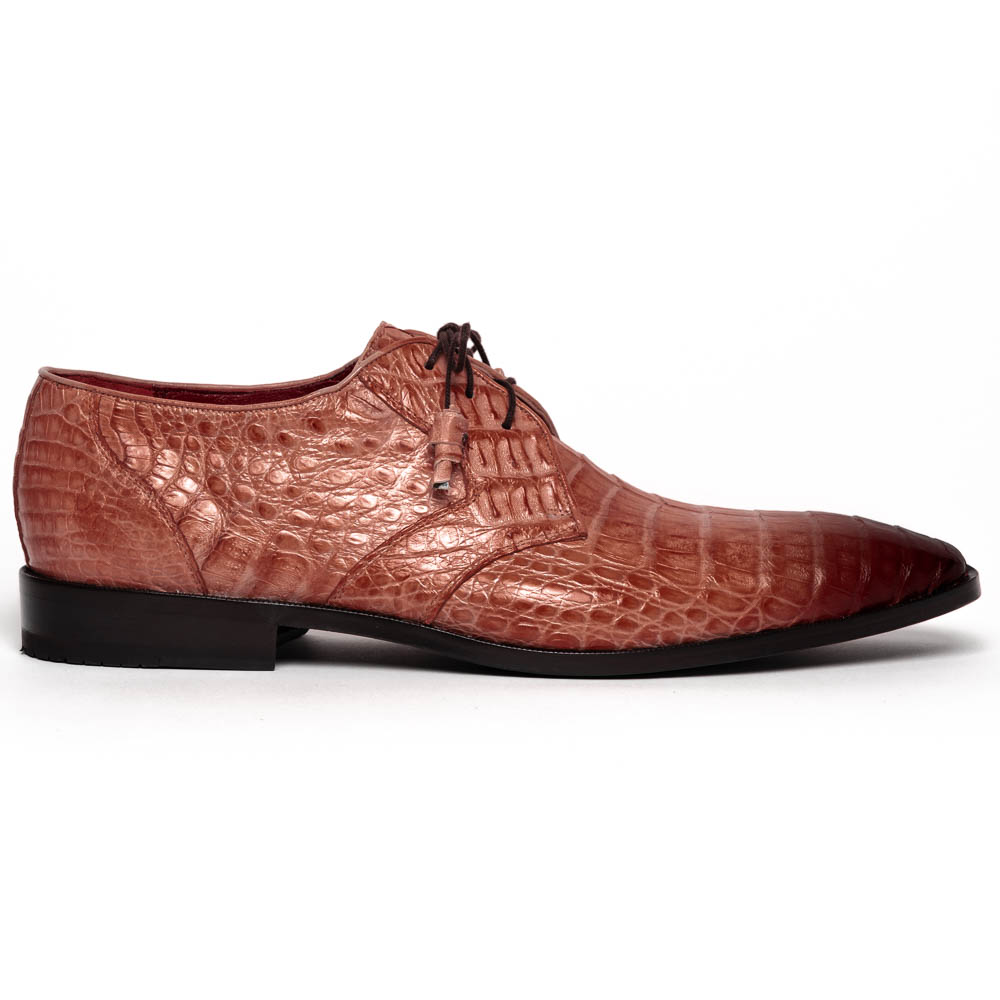 Los Altos Caiman Belly Derby Shoes Faded Cognac Image