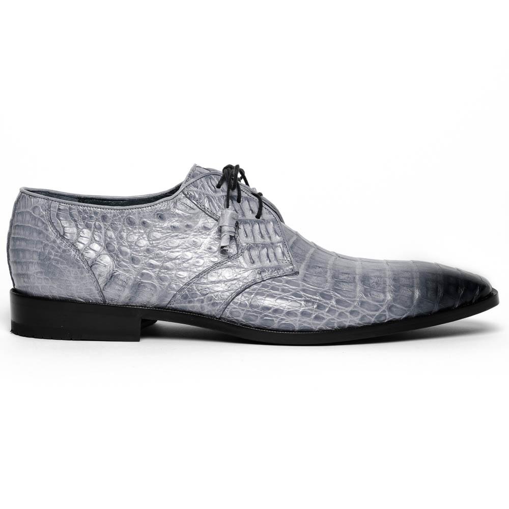 Los Altos Caiman Belly Derby Shoes Faded Gray Image