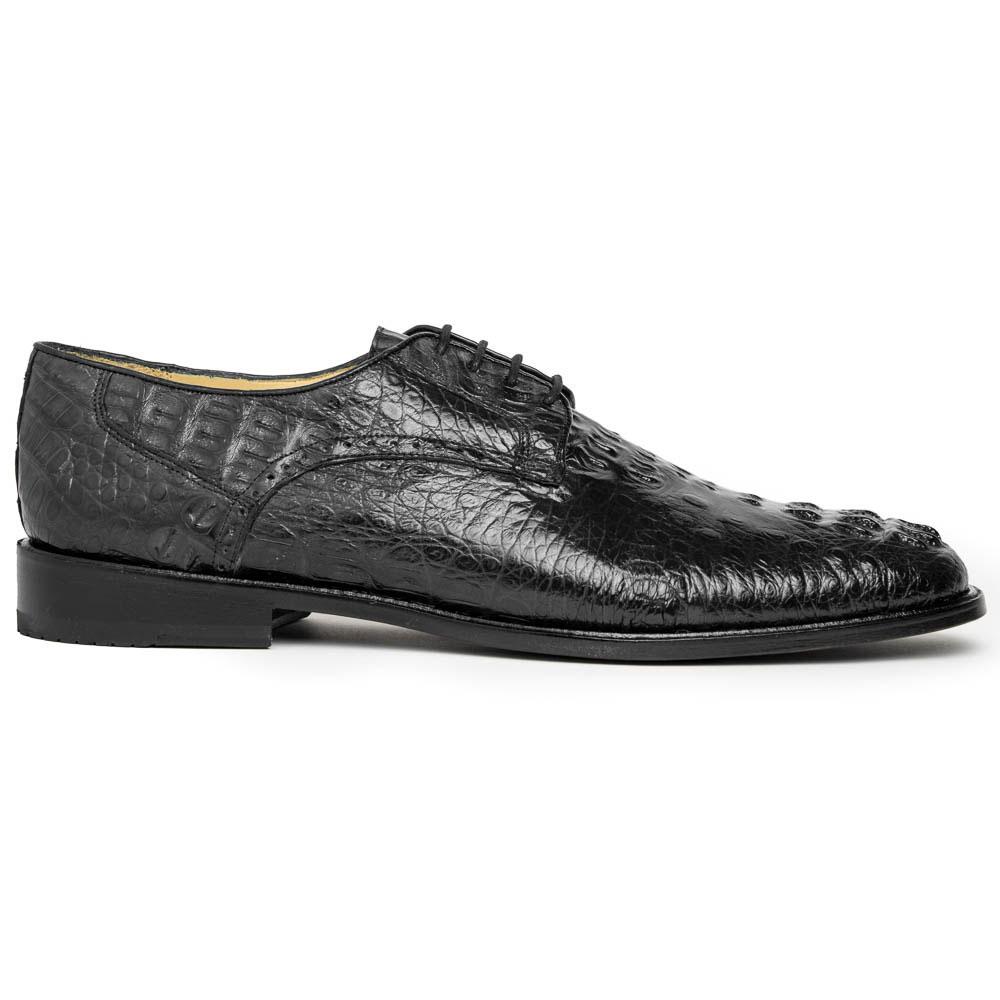 Los Altos Caiman Hornback Shoes Black Image