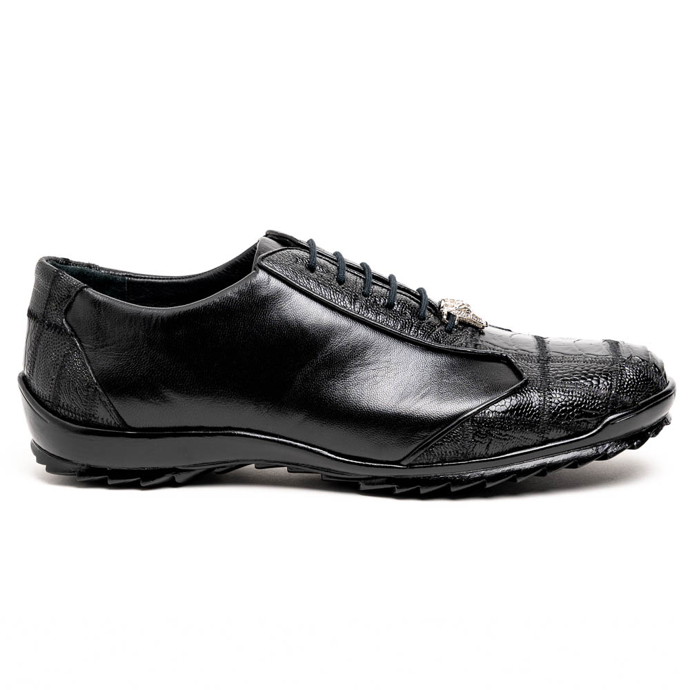 Los Altos Ostrich Sneakers Black Image