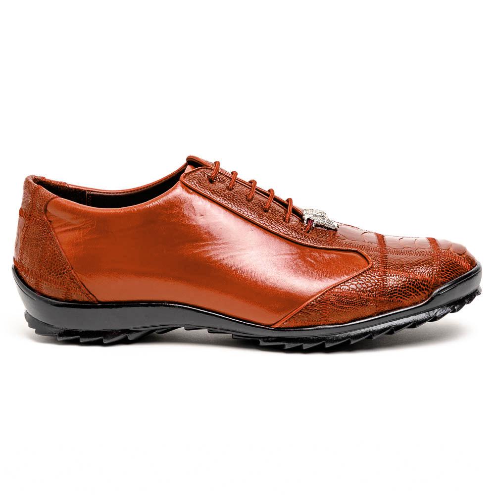 Los Altos Ostrich Sneakers Cognac Image