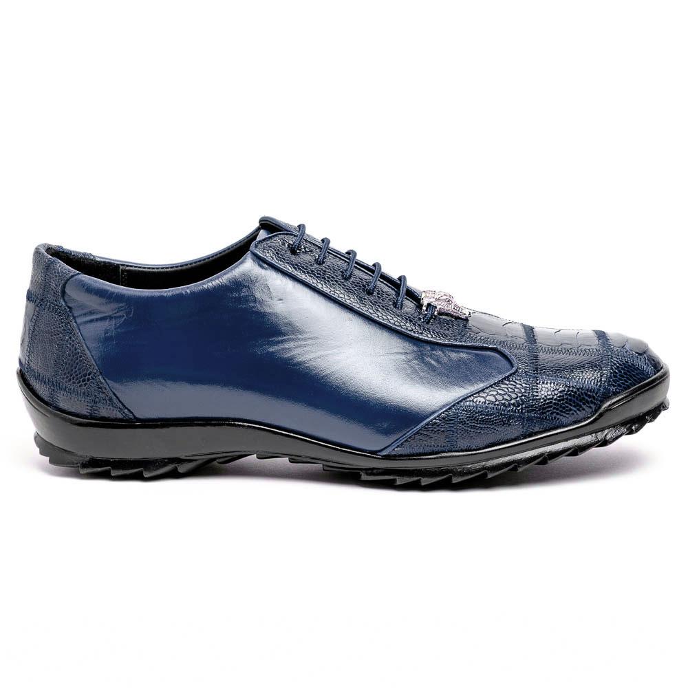 Los Altos Ostrich Sneakers Navy Blue Image