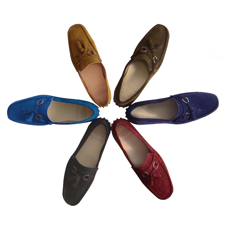 Calzoleria Toscana 2907 Suede Tassel Driving Loafers Image