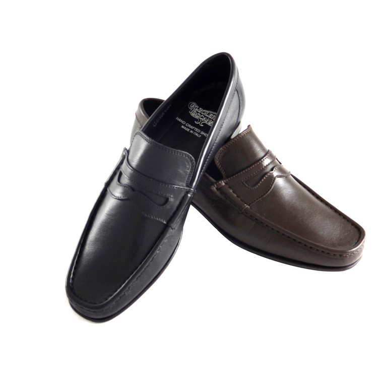 Calzoleria Toscana 3654-L Lambskin Penny Loafers Image
