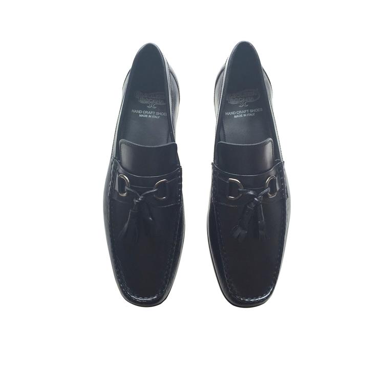 Calzoleria Toscana 6946 Lambskin Tassel Loafers Black Image