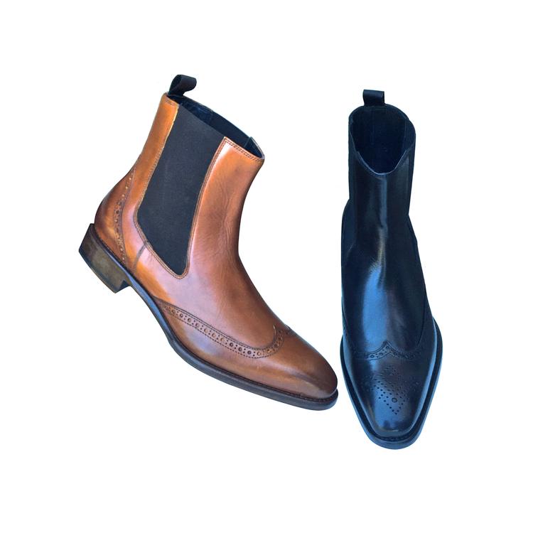 Calzoleria Toscana 8543 Calfskin Wingtip Boots Image