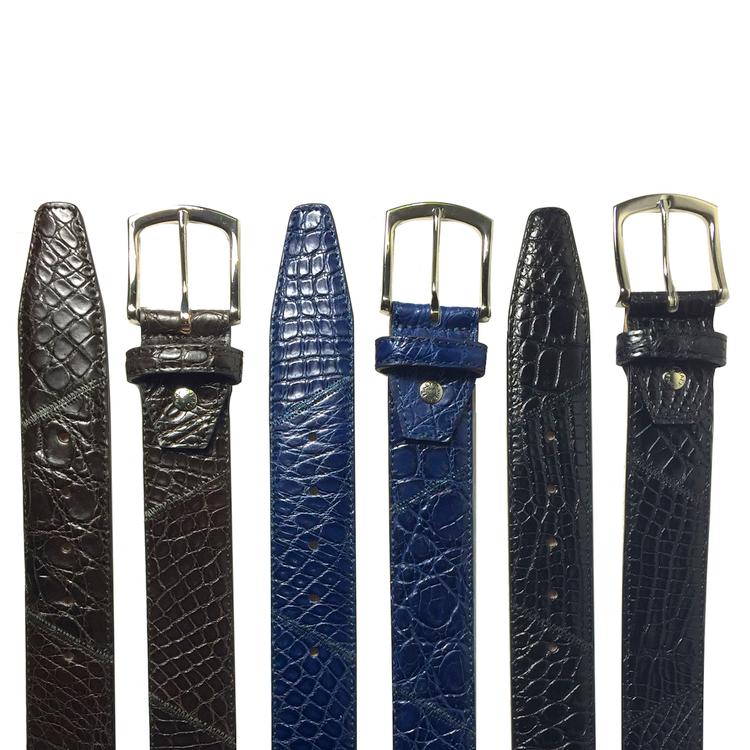 Calzoleria Toscana C5741 Caiman Patchwork Belts Image