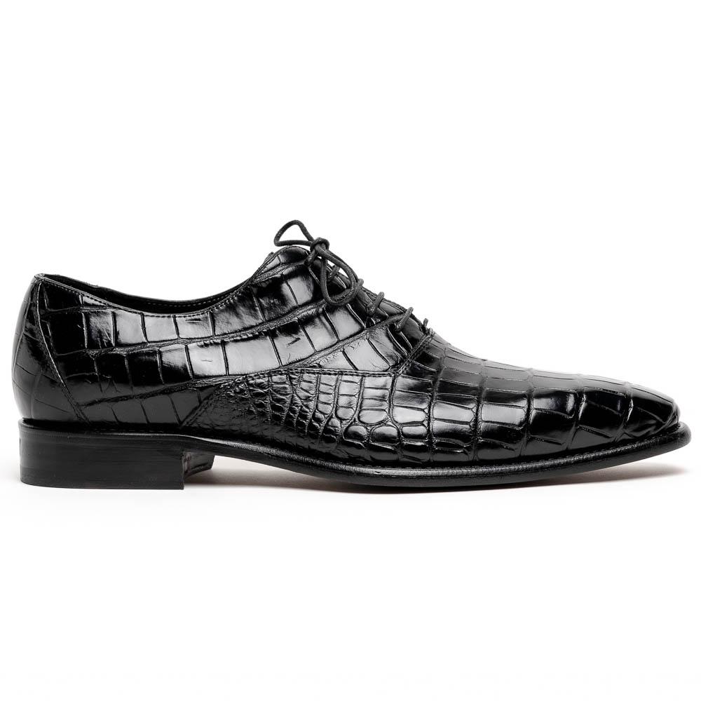 Calzoleria Toscana David 6153 Nile Crocodile Shoes Black Image