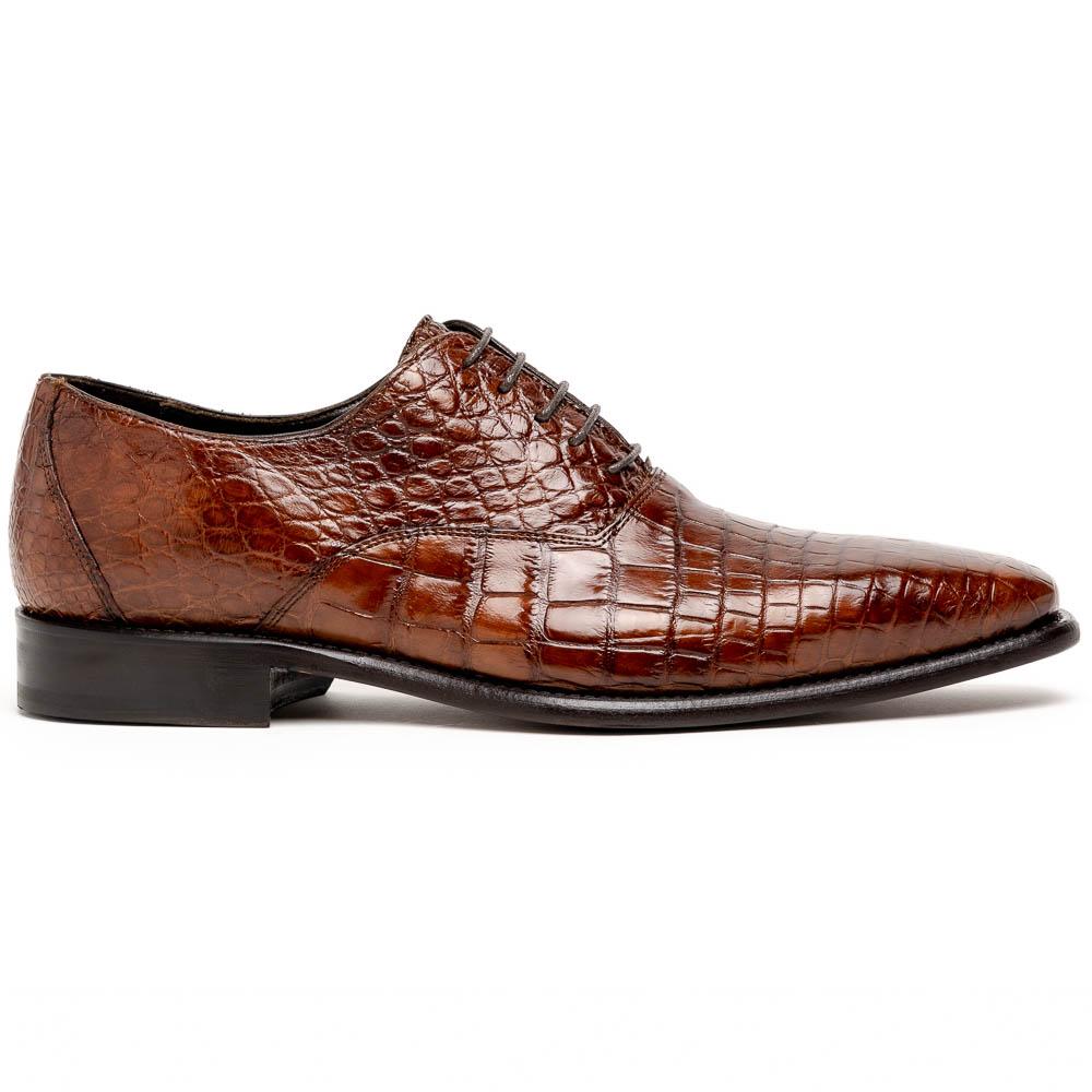 Calzoleria Toscana David 6153 Nile Crocodile Shoes Cognac Image