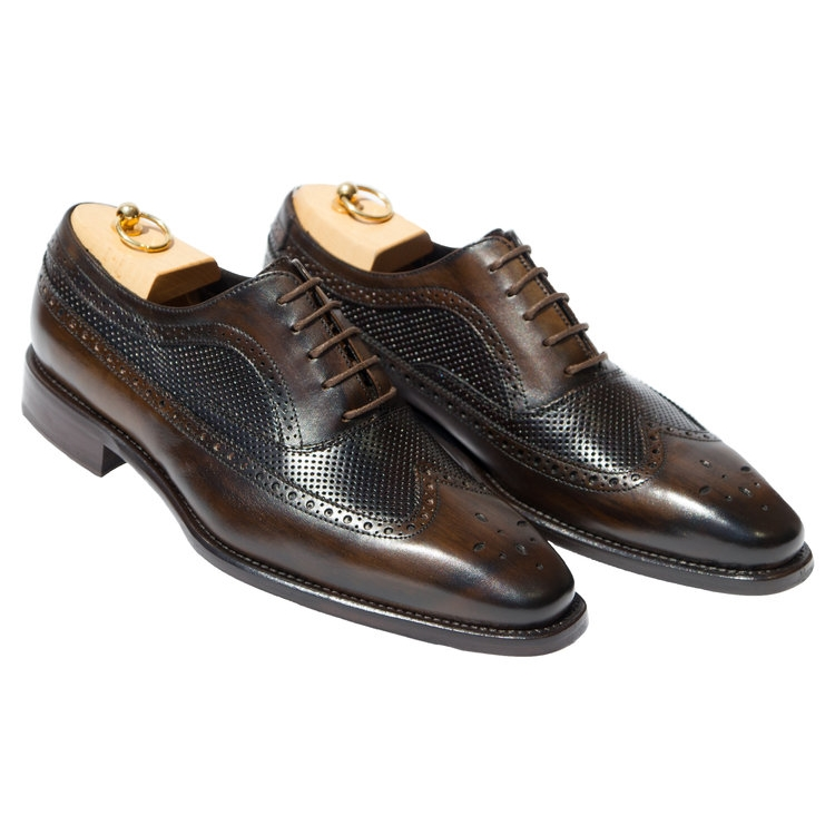 Calzoleria Toscana H165 Wingtip Oxfords Dark Brown Image