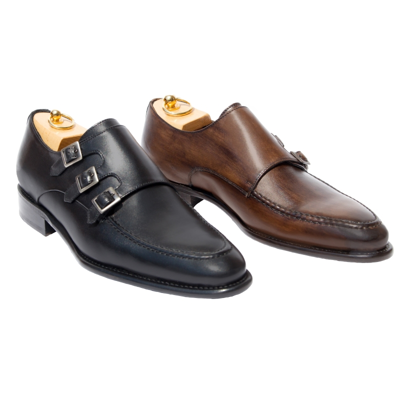 Calzoleria Toscana H609 Triple Buckle Monk Strap Image