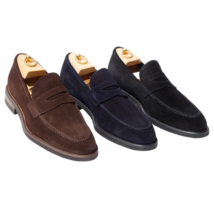 Calzoleria Toscana H748 Suede Penny Loafers Image