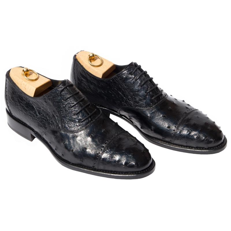 Calzoleria Toscana H777 Ostrich Cap Toe Shoes Image