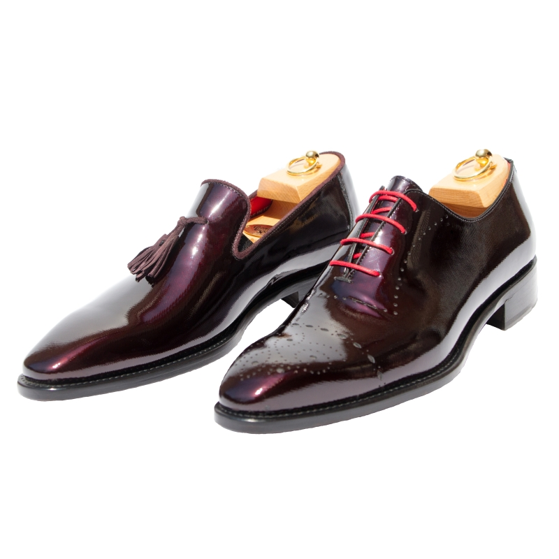 Calzoleria Toscana Z993 or 5246 Patent Leather Burgundy Image
