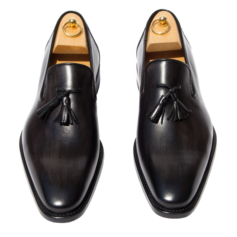 Calzoleria Toscana Z993 Patent Loafers Graphite Image