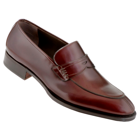 Caporicci 1205 Calfskin Penny Loafers Burgundy Image