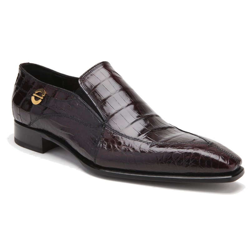 Caporicci 203 Alligator Split Toe Loafers Burgundy Image