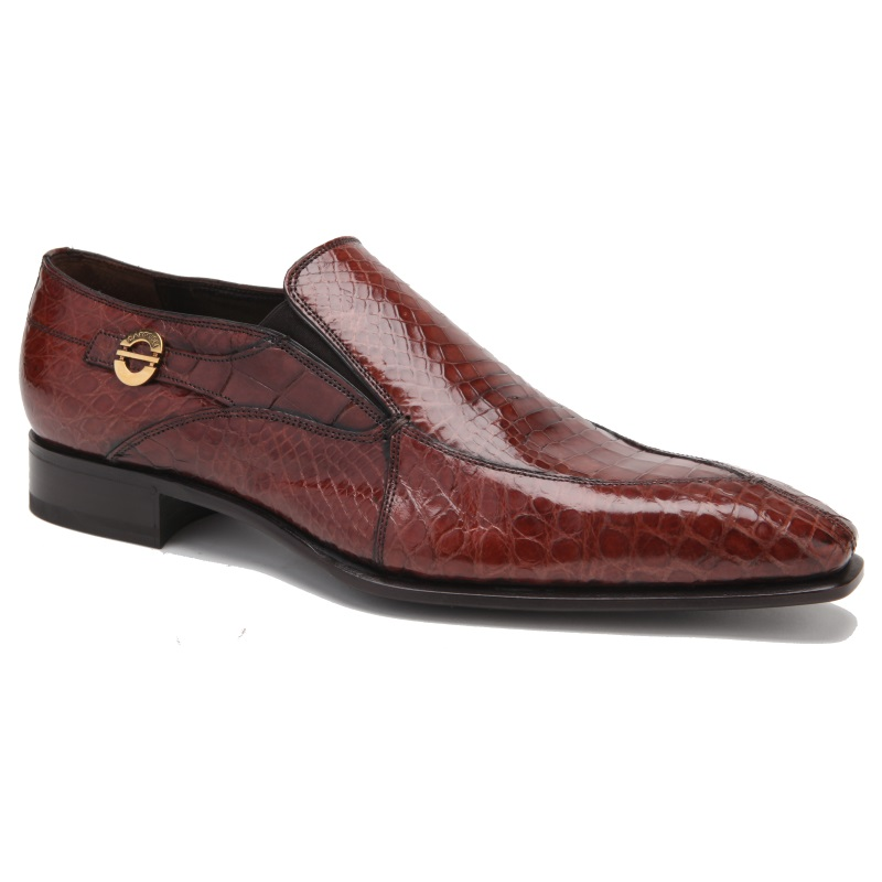 Caporicci 203 Alligator Split Toe Loafers Gold Image