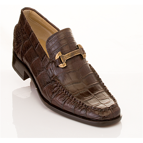 Caporicci 9318 Alligator Bit Loafers TD Moro Image