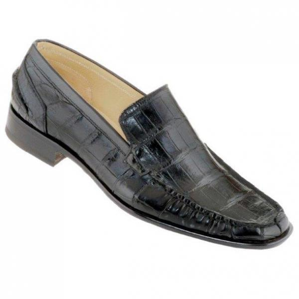 Caporicci 940 Alligator Loafers Black Image