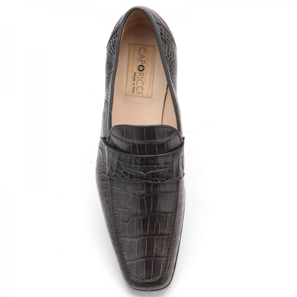 6727d49036e Product ID  9324. Caporicci 9961 Alligator Penny Loafers ...