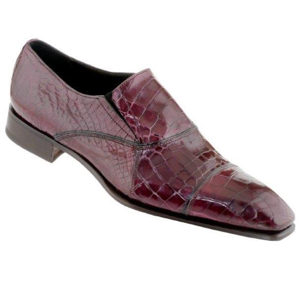 Caporicci 202 Genuine Alligator Cap Toe Loafers Wine Image