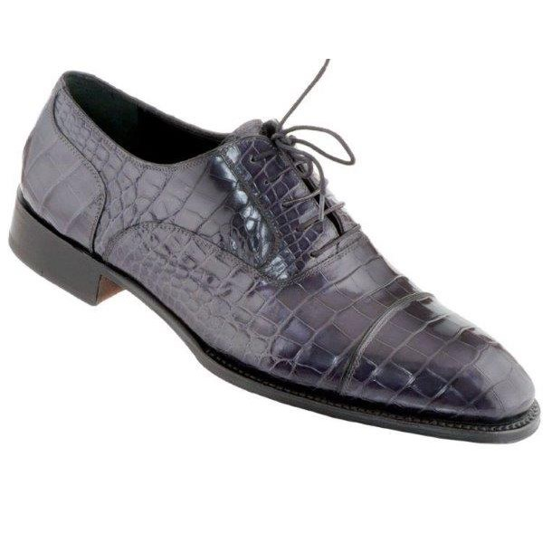 Black leather driving gloves - Caporicci 1102 Genuine Alligator Cap Toe Shoes Navy Mensdesignershoe