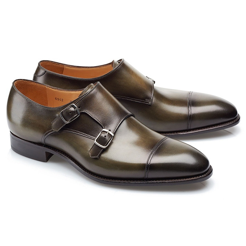 Carlos Santos Andrew 6942 Double Monk Strap Shoes Bosco Image