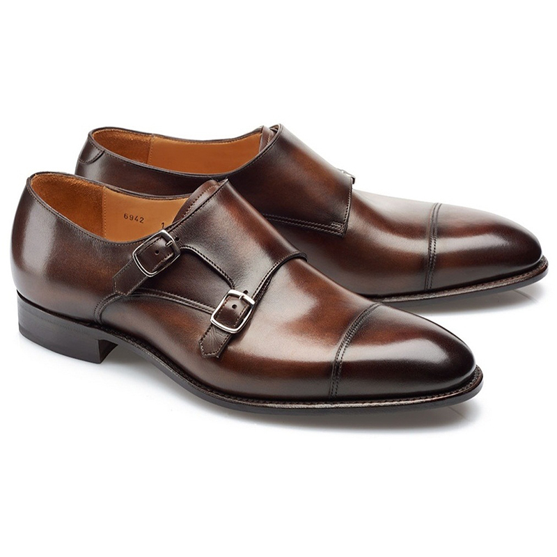 Carlos Santos Andrew 6942 Double Monk Strap Shoes Coimbra Image