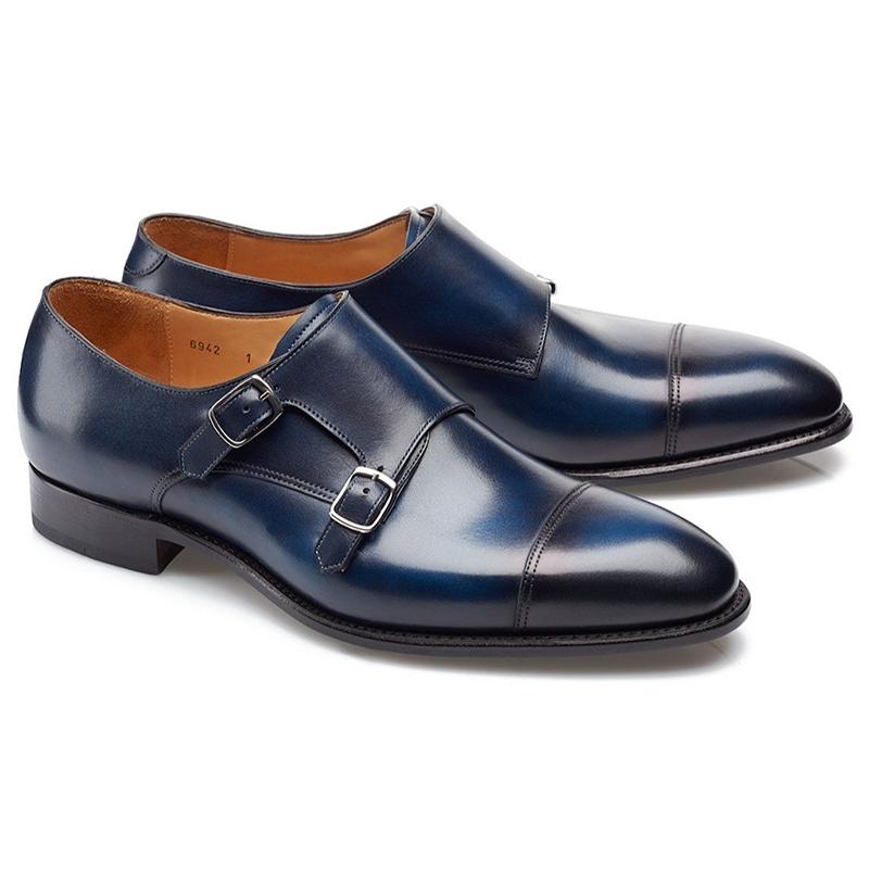 Carlos Santos Andrew 6942 Double Monk Strap Shoes Norte Image