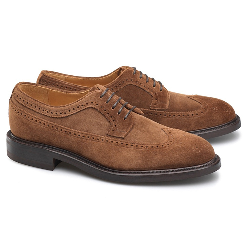 Carlos Santos Clay 1046 Suede Wingtip Shoes Velours Image