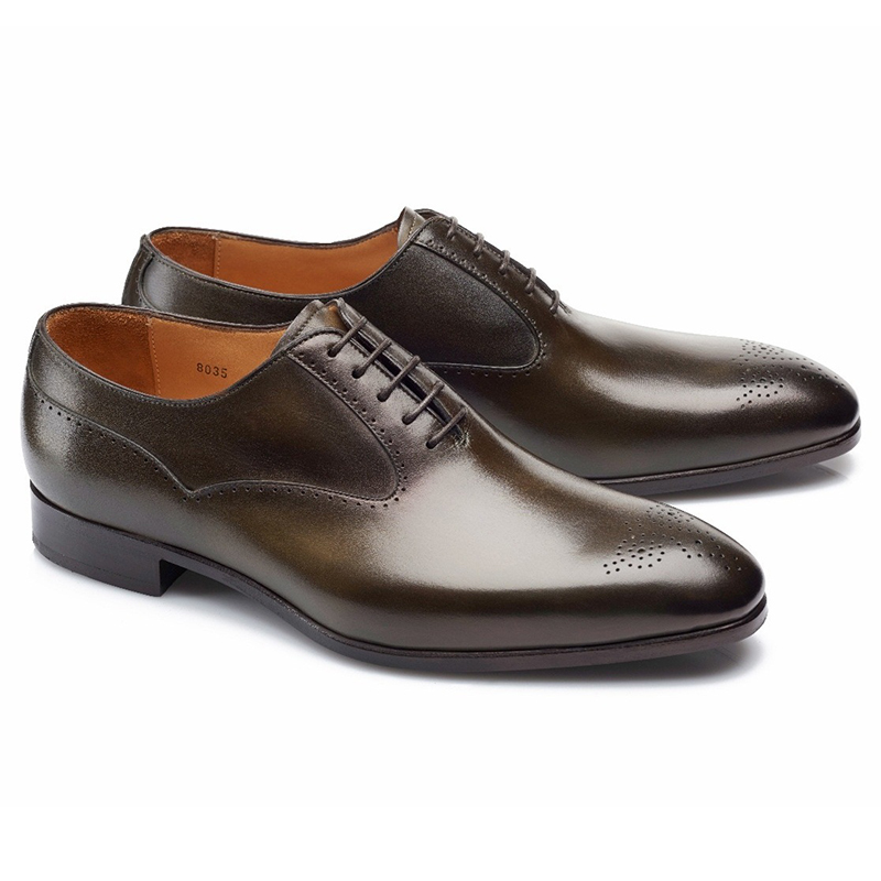 Carlos Santos Clint 8035 Medallion Toe Shoes Bosco Image