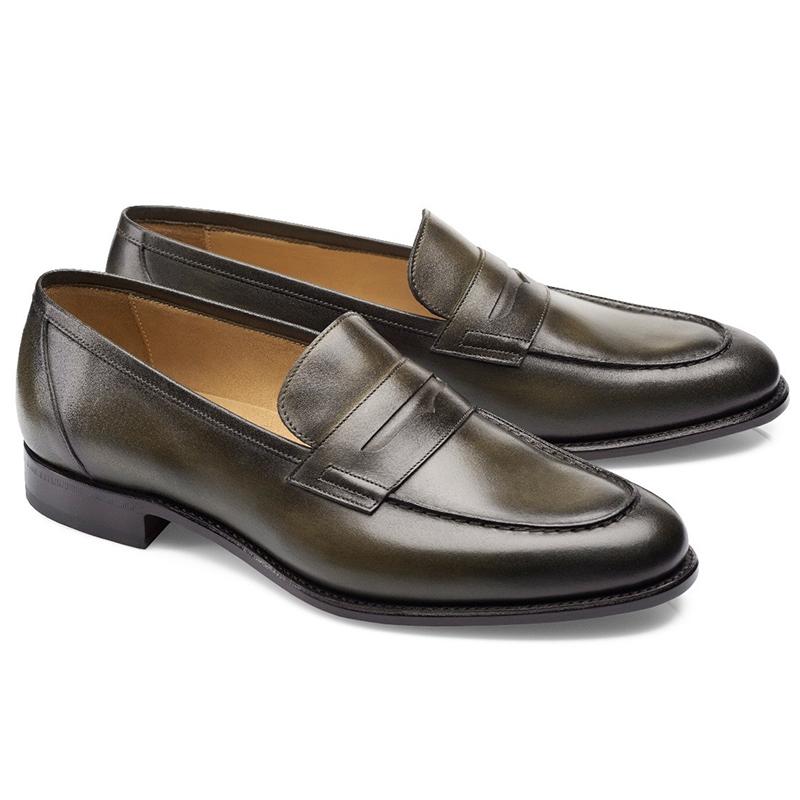 Carlos Santos Elliot 9176 Penny Loafer Shoes Bosco Image