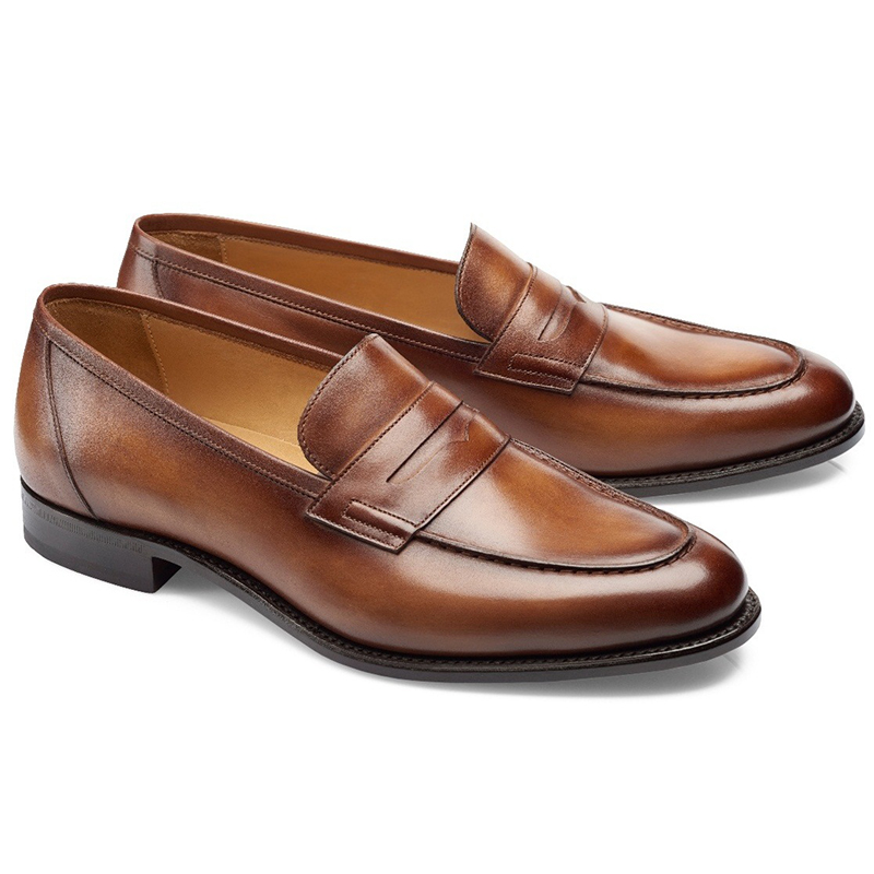 Carlos Santos Elliot 9176 Penny Loafer Shoes Braga Image