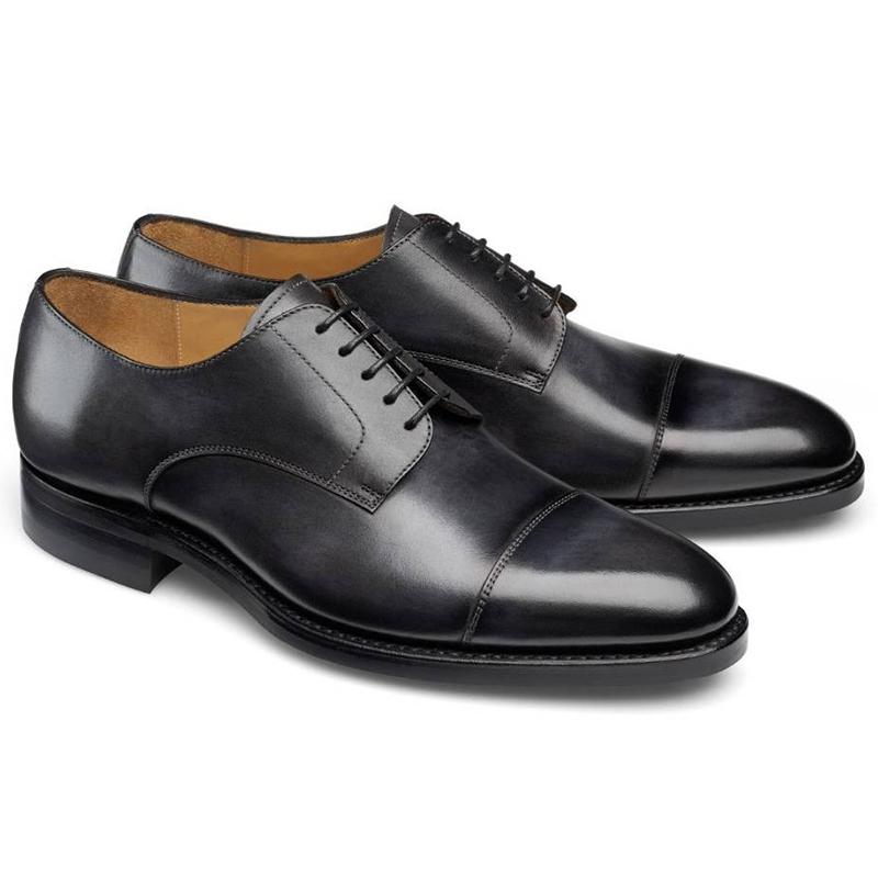 Carlos Santos Gary 9381 Cap Toe Shoes Noir Shadow Image