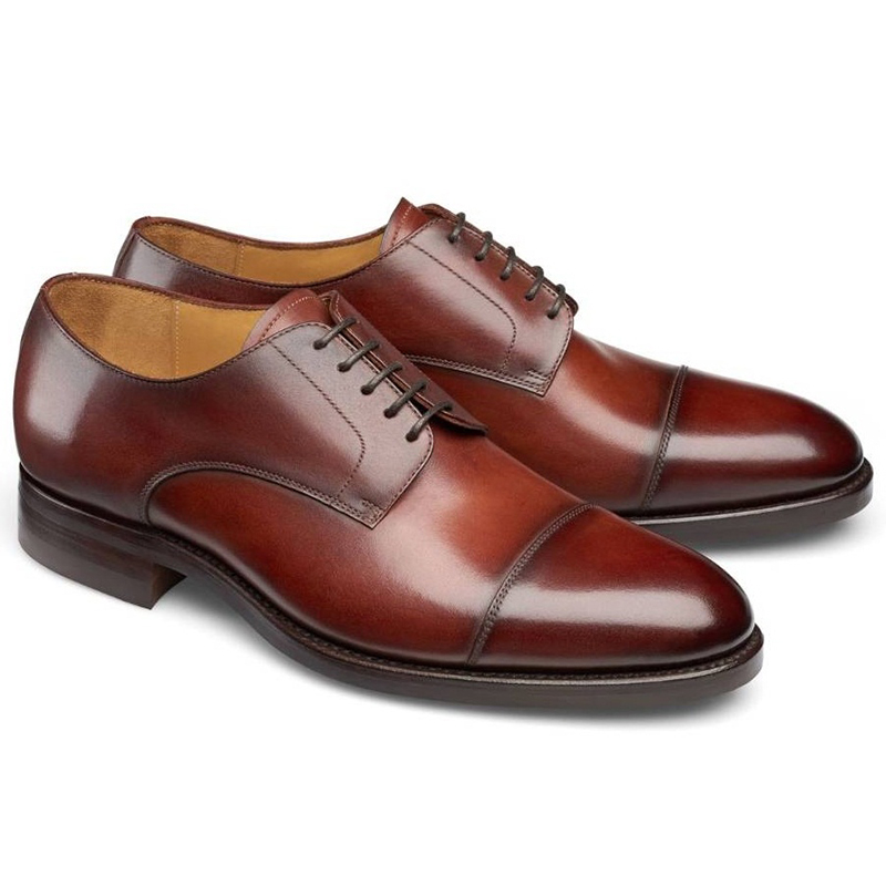 Carlos Santos Gary 9381 Cap Toe Shoes Wine Shadow Image