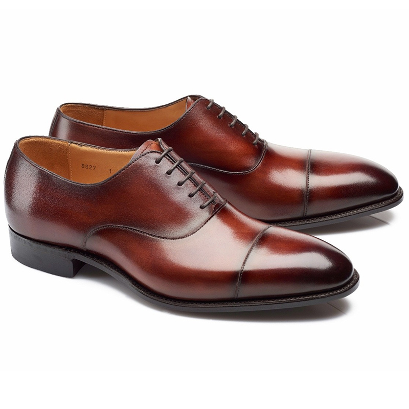 Carlos Santos Harold 8627 Cap Toe Oxfords Wine Shadow Image