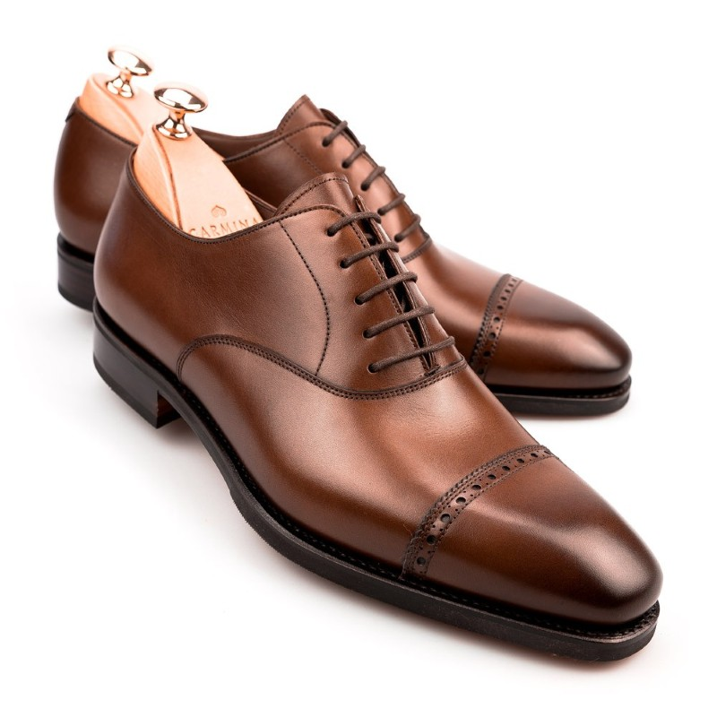 Carmina Cap Toe Oxfords 80201 Rain Brown Image