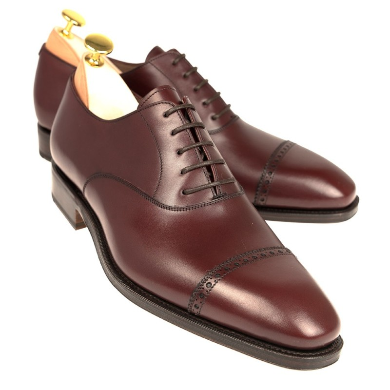 Carmina Cap Toe Oxfords 80201 Rain Burgundy Image